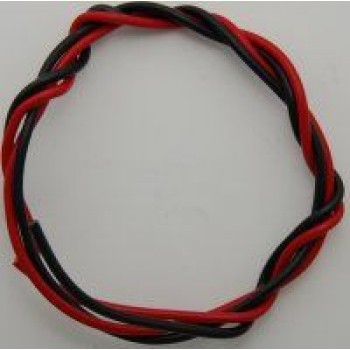 "18"" Black and Red 18 Gauge Wire"