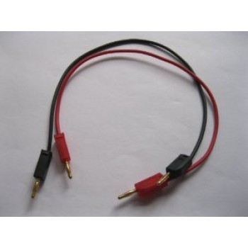 (2) 2mm Banana Plug Cables, 30cm