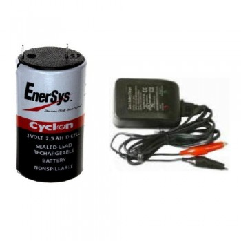 2 Volt Battery With Charger