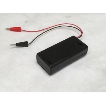 Battery Pack - 2 AA with 2mm Banana Plugs