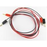 (2) 2mm Stacking Banana Plug Cables, 100cm