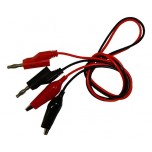 (2) Banana Plug Cables with Alligator Clip End, 50cm