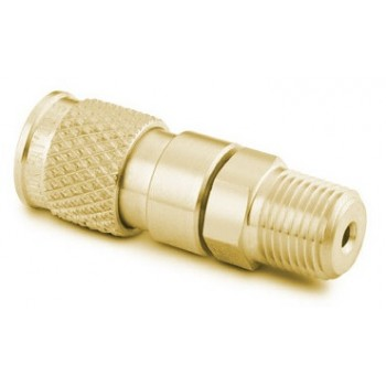 Brass Miniature Quick Connect Body, 0.05 Cv, 1/8 in. Male NPT