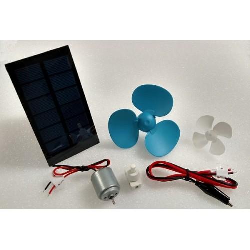 Solar Powered Electric Motor Kit: Solar DIY Fan Kit