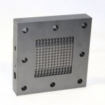 Flow Battery Graphite Flow Field Plate, Column-Pin - 25 cm2