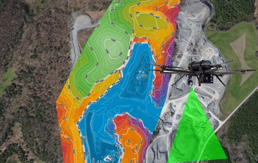 Aerial mapping and site planning