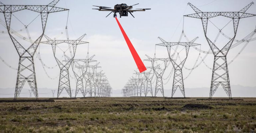 High voltage power line inspection